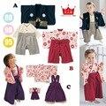 Bebé de la Impresión de Algodón Japonés Kimono Mamelucos Lindos Del Bebé Infantil Bebes Overoles de manga Larga Bebé ropa Regalos De Halloween