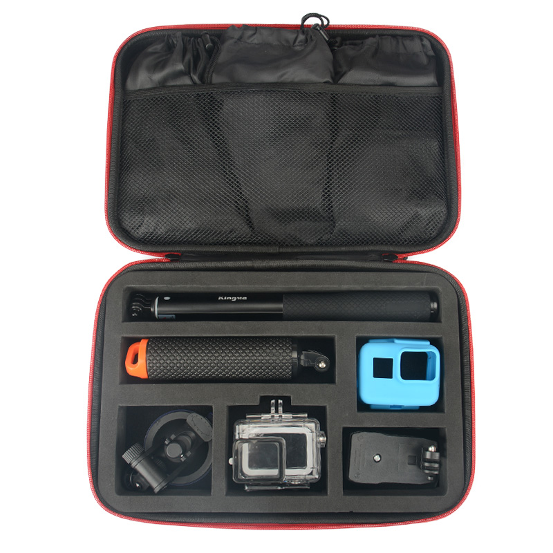 KingMa For Gopro accessories set For Gopro hero 6 hero 5 waterproof protective case chest for go pro hero 6 hero 5 tripod for honda crf 250r 450r 2004 2006 crf 250x 450x 2004 2015 red motorcycle dirt bike off road cnc pivot brake clutch lever