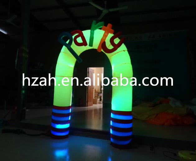 Lighted Inflatable Party Archway for Indoor Decor monkey foil balloon auto seal reuse party wedding decor inflatable gift for children