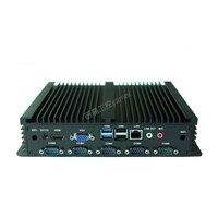Промышленные бизнес имплантатов Стиль Мини ПК компьютер 30 ГБ 60 120 ГБ 256 SSD 1037u J1900 I3 I5 С Wi Fi HDMI VGA 6 * порты и разъёмы com LPT