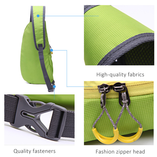 Hot Brand New Unisex Waterproof Nylon Chest Bag Men Women Running Shoulder Bag Diagonal Outdoor Sports Gym Bag sacs de course 3