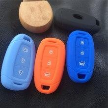Силиконовый резиновый чехол для ключей автомобиля для hyundai kona i30 ix35 solaris Azera ELANTRA GRANDEUR IG 3 чехол для ключей с кнопками