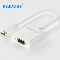 SAMZHE 1080P Active HDMI To VGA Converter HDMI Male To Female VGA Cable Adapter Audio Projector