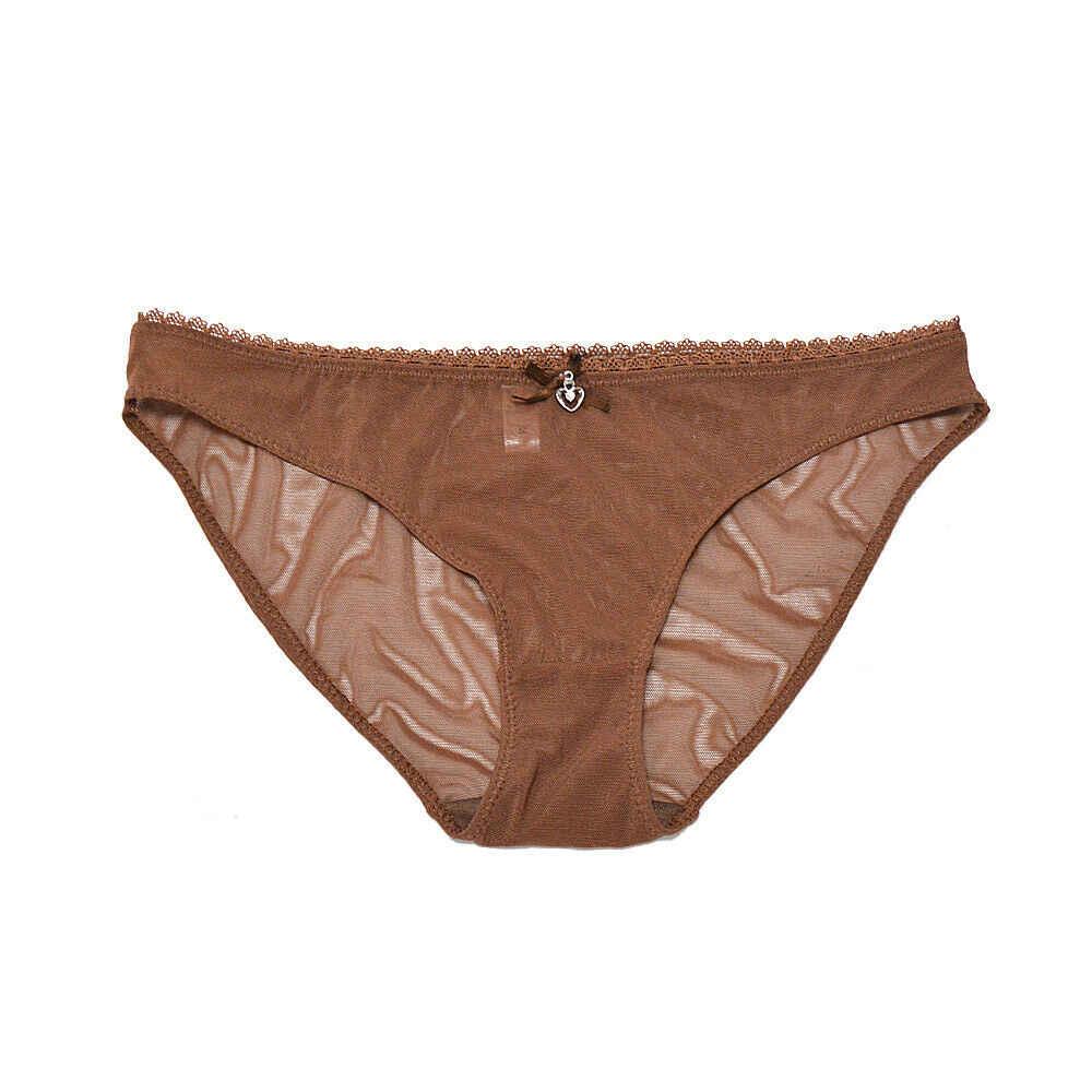 YANDW חום חזיות תחתוני מכירה מופרד שקוף Mesh לראות דרך למתוח נשים סקסי הלבשה תחתונה גדול בתוספת גודל BH סט 3 צבעים