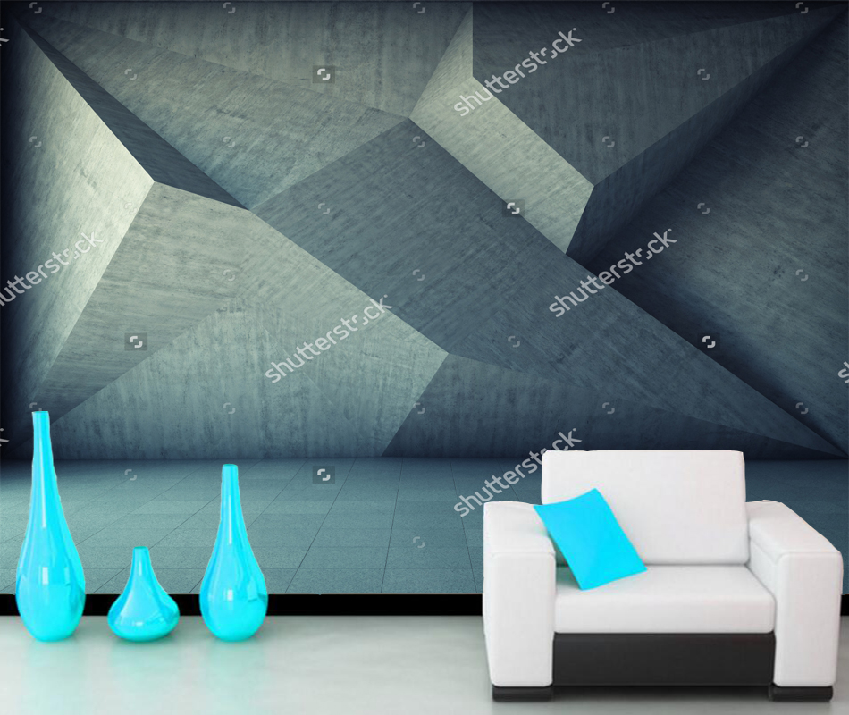 Custom 3D space wallpaper,Abstract geometric background of the concrete,for living room bedroom sofa background wallpaper custom baby wallpaper snow white and the seven dwarfs bedroom for the children s room mural backdrop stereoscopic 3d