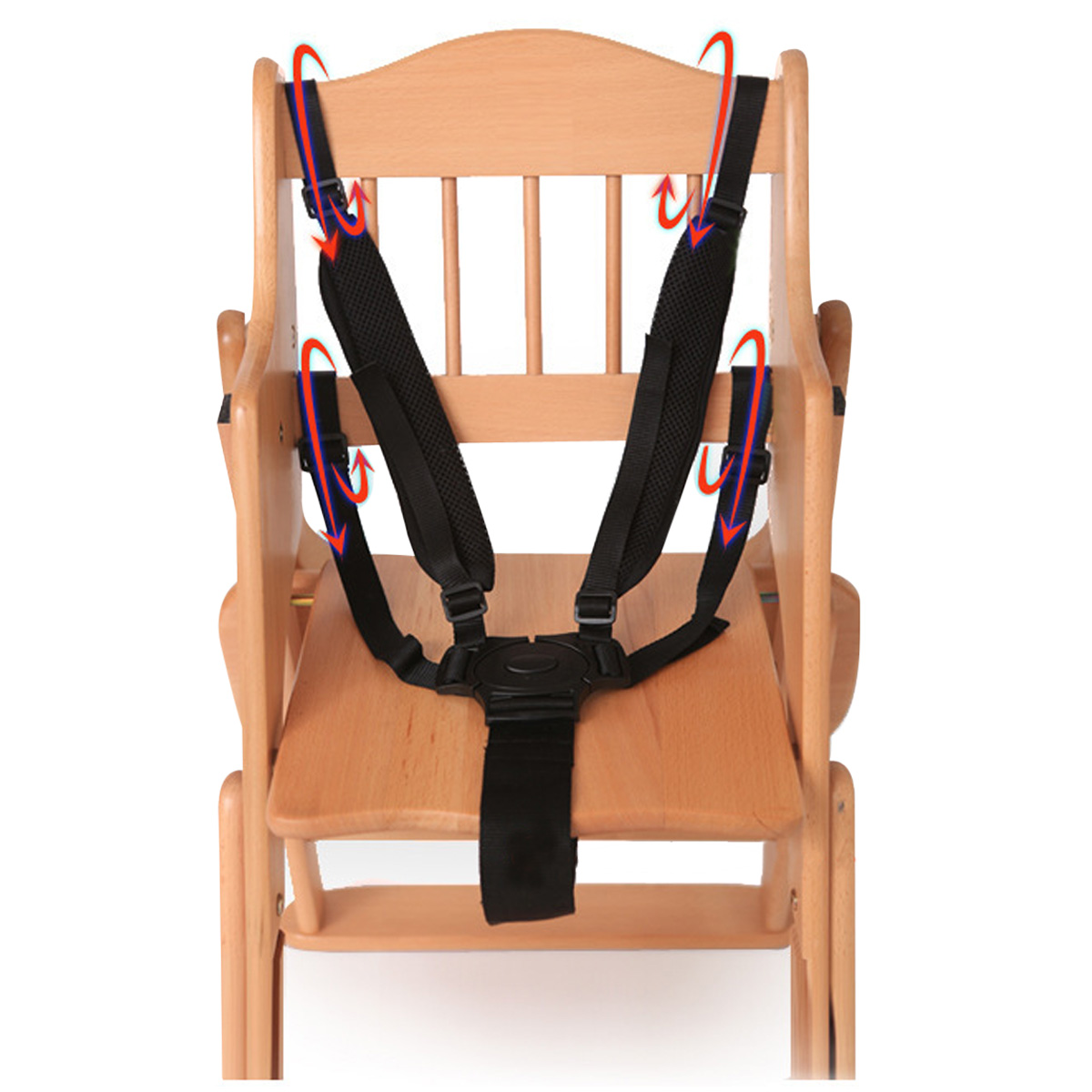 Multi-functional 5 Point Baby Safe Belt Seat Harness High Chair Carriage Safe Seat Buggy Belt Strap Pushchair 360 Rotating Hook