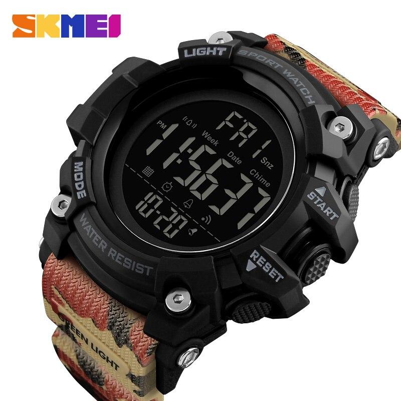 SKMEI Étanche Hommes Sport Montres De Luxe Marque De Mode Militaire Numérique Montre LED Électronique Horloge Hommes relogio masculino