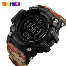 SKMEI relojes deportivos impermeables para hombre, cronógrafo Digital militar, electrónico, LED, masculino