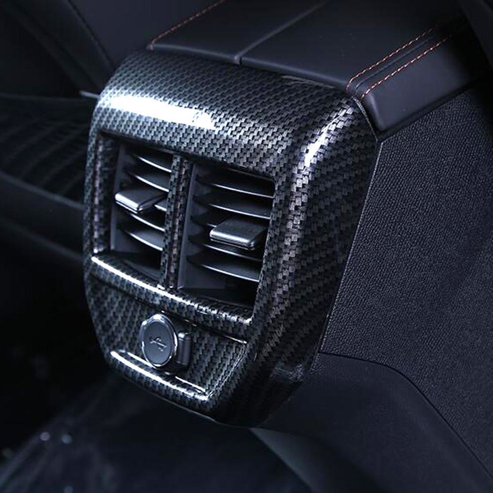 Abs accessories rear air condition cover trim rear seat ac outlet decoration frame trims for peugeot