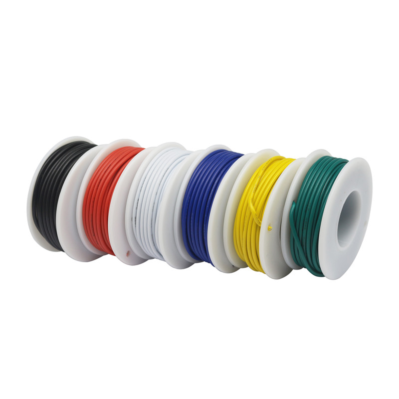 Ul1007 28/26/24/22/20/18awg Tinned Copper Wire (6 Color Hybrid Stranding Kit) Wire Pvc Electronic Cable Ul Certification Diy