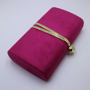 Image 4 - Nuphia Suede Evening Clutch Bags and Party Clutches Evening Bags for Women Yellow Royal Blue Orange Red Purple