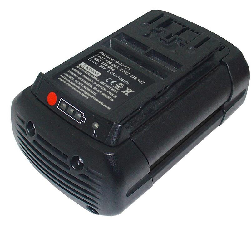 Replacement for BOSCH 11536C 1651K 1671B 11536C-2 2 607 336 108/107/003/004 BAT810 BAT836 BAT840 D-70771 Power Tools Battery spare 4000mah 36v lithium ion rechargeable power tool battery replacement for bosch d 70771 bat810 2 607 336 107 bat836 bat840