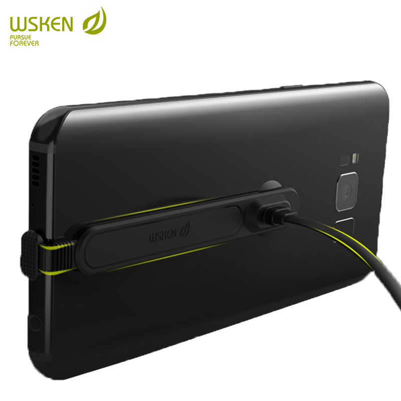 WSKEN USB c type c phone games cable for Samsung s9 s8 plus note 8 Huawei type-c phone charger USB cable 90 degree bending cable
