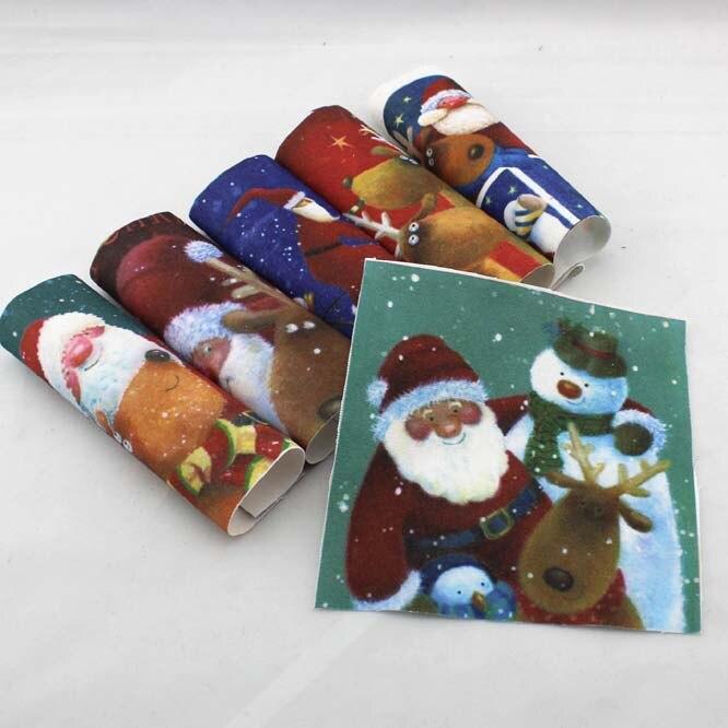 Christmas Santa Cartoon Diy Felt Cotton Fabrics Cloth Dolls For