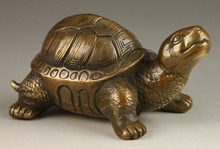 Crafts Arts Superb Collectable Old Spiritual Exorcism Tortoise Bronze Statue  tools wedding Brass