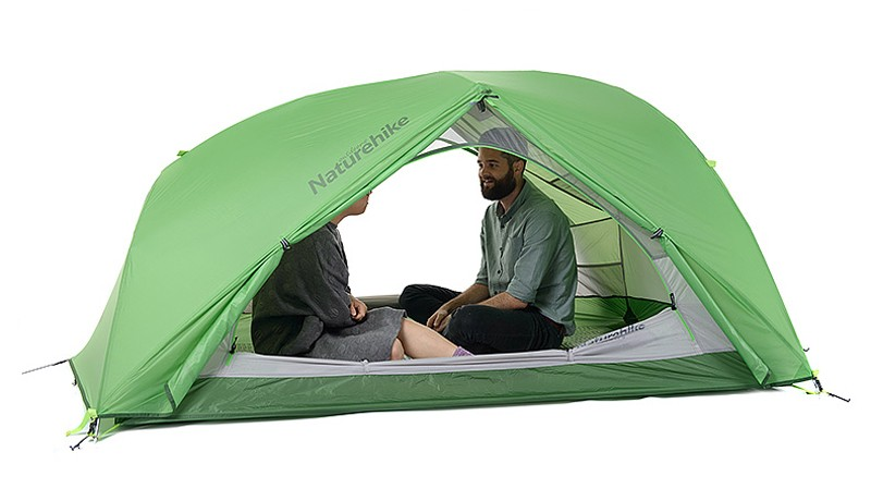 Naturehike 20D Nylon Silicone Fabric heavy rain proof wind proof tent super light weight 2 person 4season tent
