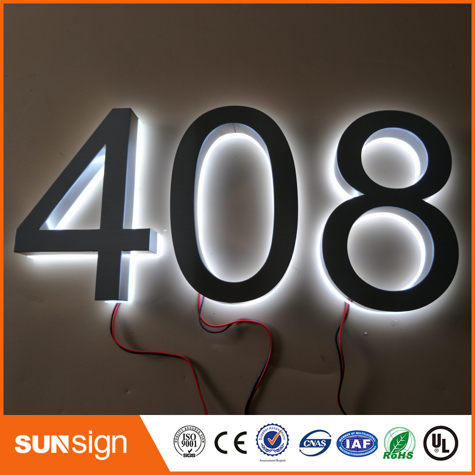 Factory Outlet Outdoor Metal Backlit Led Letters Sign And Acrylic Board With Number Or Letters Pure Whiteness