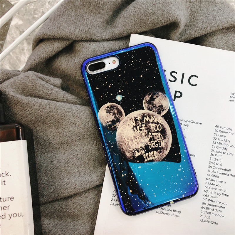Fashion Cute Blu ray Phone Case For iphone 7 Case Soft Silicone Cover For iphone 6 6S 7 8 Plus X XR XS MAX Glitter Stars Cases in Fitted Cases from Cellphones Telecommunications