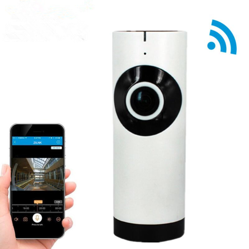 IP Camera 180 Degree Panoramic Fisheye Lens HD 720P Wi-Fi Two Way Audio Baby Monitor Indoor Home Security CCTV IP Cam