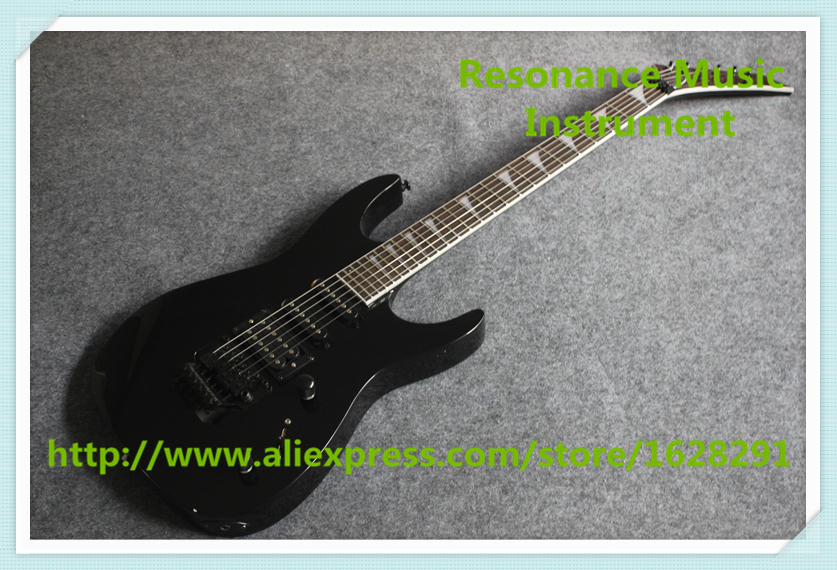 все цены на Custom 24 Shop Glossy Black Jackson Electric Guitar With Black Floyd Rose Tremolo In Stock