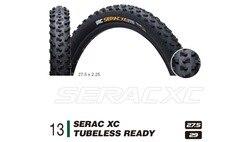 IRC Serac XC bezdętkowe gotowe 27.5x2.25/29x2.10 MTB opona rowerowa czarne części rowerowe FOURIERS Agent