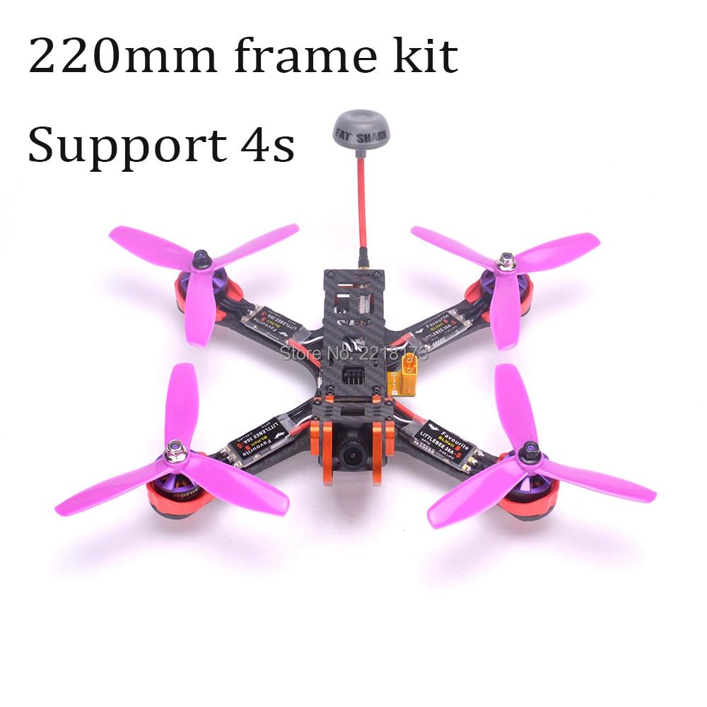 Chameleon FPV Frame 220 220mm Quadcopter F3 Acro / Deluxe 2205 2300kv motor Littlebee 30A BLHeli-s ESC Fatshark antenna For PUDA