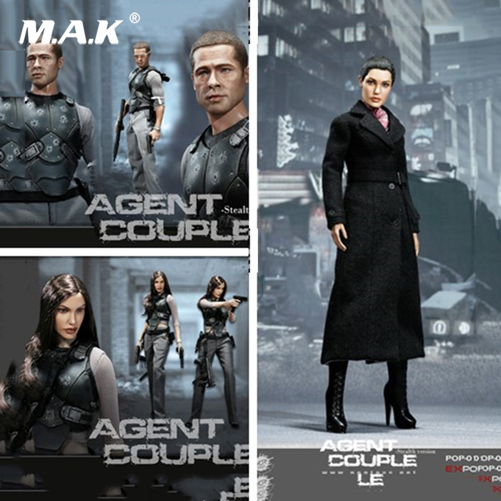 POPTOYS 1/6 Scale EX018 Mrs. Smith SM Ver. Action Figure Agents Mrs. Smith Battle ver. Couple Series Full Set Action Figure