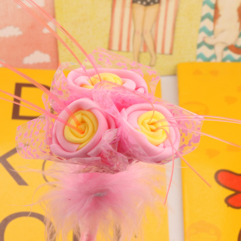 P-0432 Factory Direct Selling Creative Stationery Wholesale July Valentines Day Wedding Simulation Rose Ball Pen