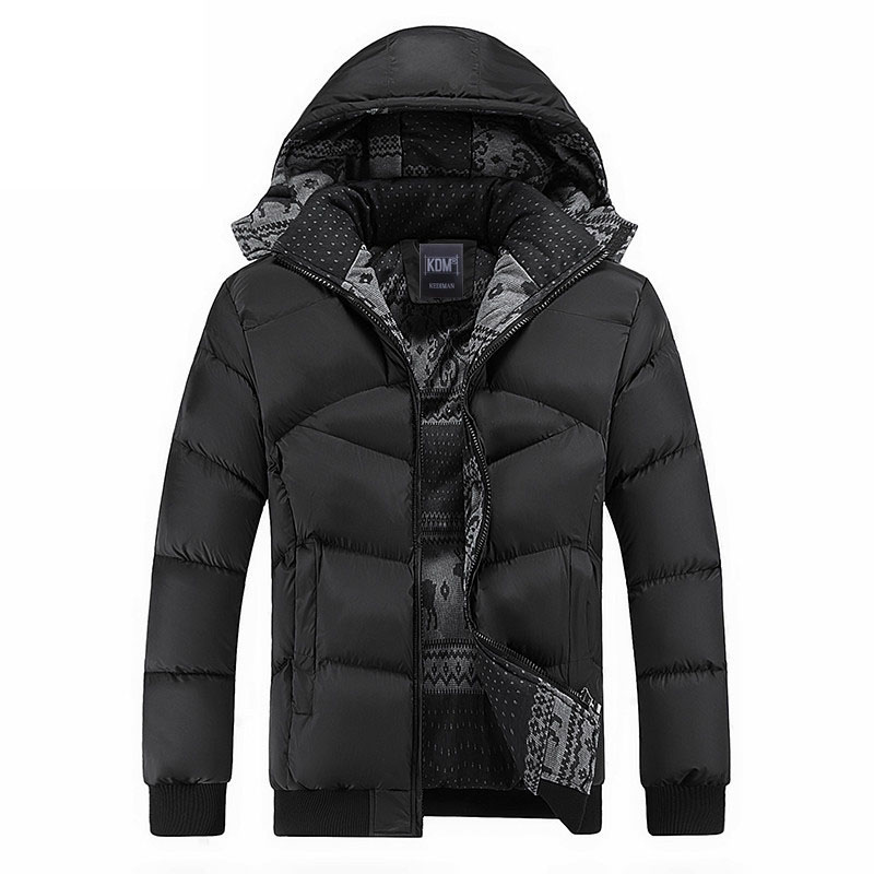 New winter jacket men superstar brand outwear thick warm Cotton-Padded down coat with hood casual parka men size M~4XL