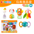 Candice guo plastic toy baby gift colorful rattle mobile dog chickken bear monkey rabbit puppy bunny teether animal kid 5pcs/set