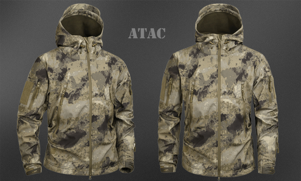 Men's Military Camouflage Fleece Jacket Army Tactical Clothing 40
