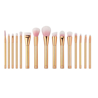 New 15pcs Makeup Brushes Set Professional Rose Gold Powder Foundation Blusher Eyeshadow Lip Make Up Brushes