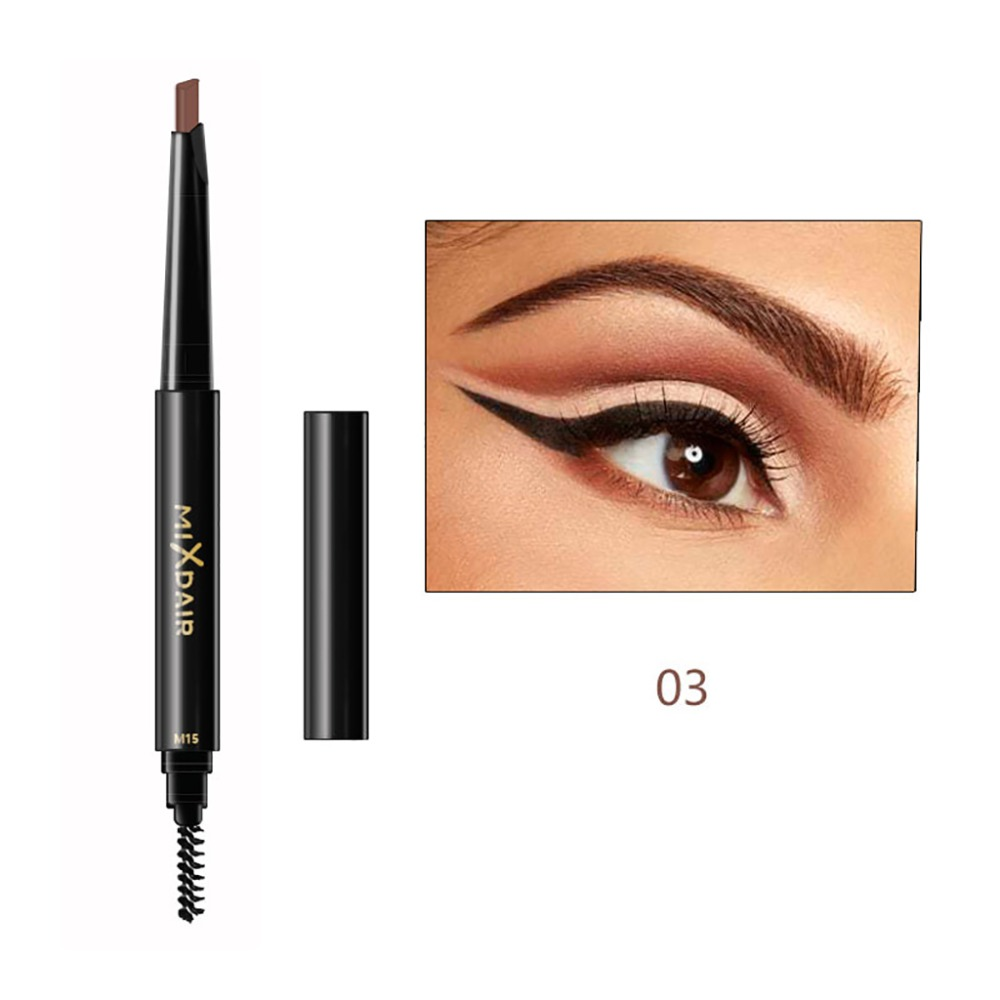 MIXDAIR double ended eyebrow pencil long lasting black coffee Triangular head automatic rotation eyebrow drawing pen MD008 2