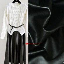 135*50 cm Schwarz Kunstleder Stoff Kunstleder PU Stoff Synthetischen Kunstleder Material Sewing Diy Hosen Kleid quilten