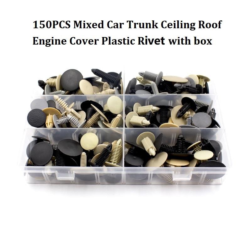 360 шт Универсальный смешанный автомобильный бампер крыло винт пластиковый крепеж зажим с коробкой набор для всех авто заклепок - Название цвета: K4-150Pcs