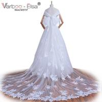VARBOO_ELSA Photo pizzo applique abito da sposa abito da sposa di lusso treno staccabile abito da sposa a-line bianco abito da sposa 2017