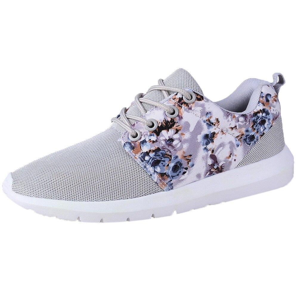 Вулканизированная обувь; женские кроссовки на платформе; женские кроссовки; дышащая повседневная обувь с цветочным принтом; сетчатая обувь