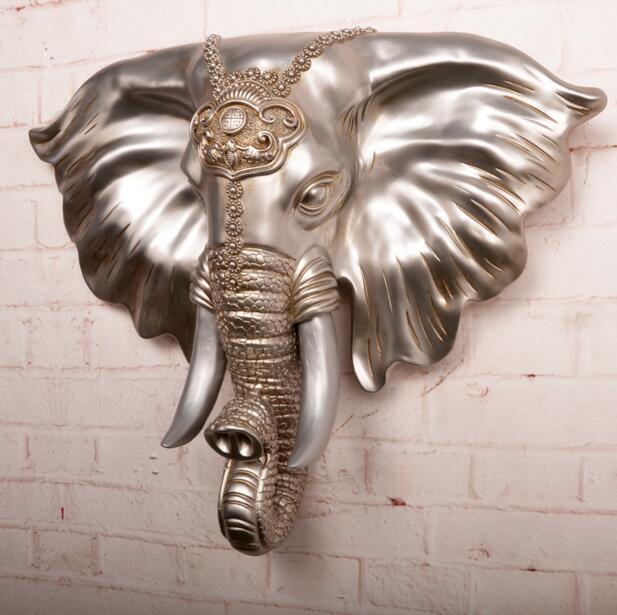 Nouveau 3D rétro stéréo animaux éléphant mur Stcikers maison européenne salon mur décorations créatives sangles tentures murales