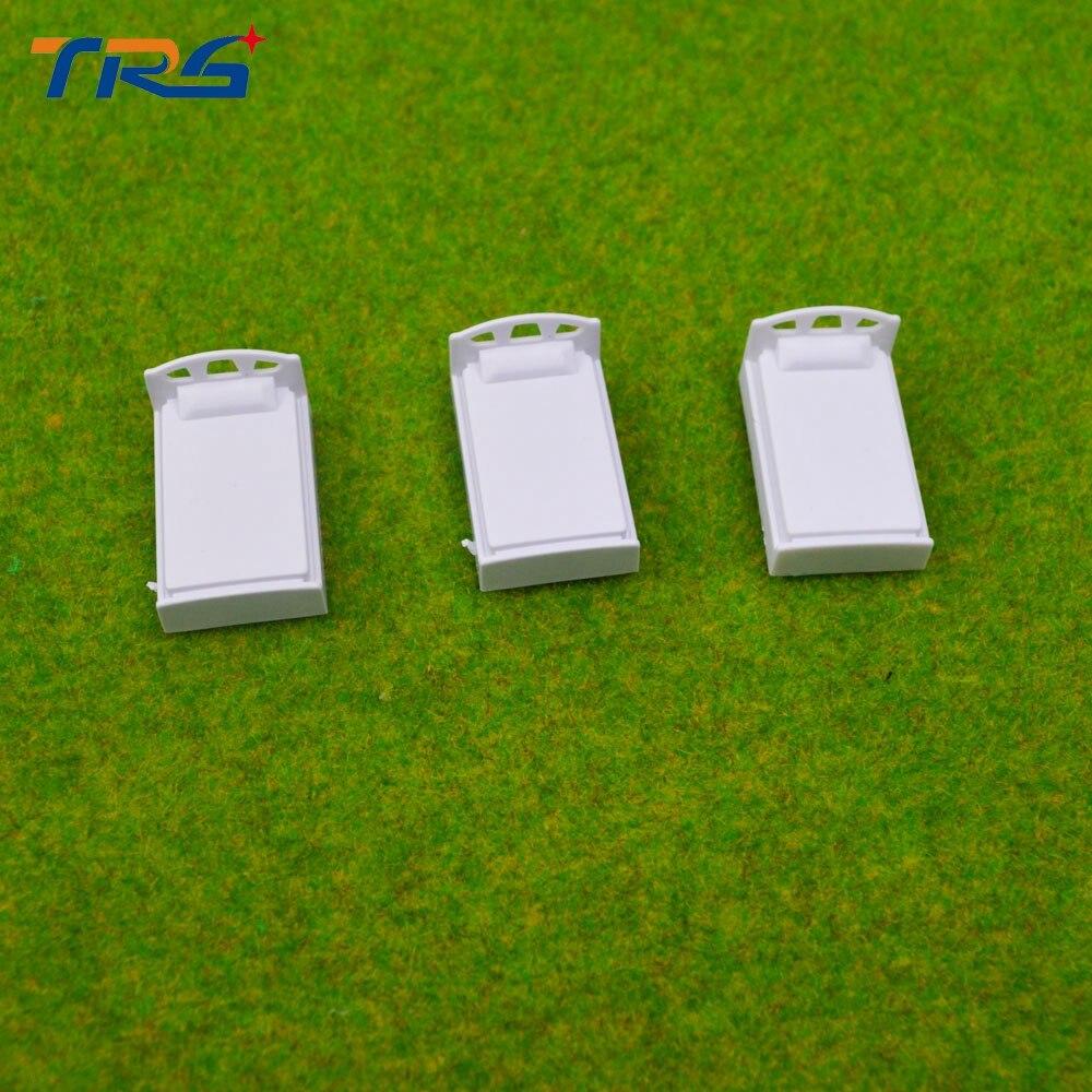 Teraysun 1; 75 modelo em escala cama cama modelo em miniatura para layout de interiores 20 pcs