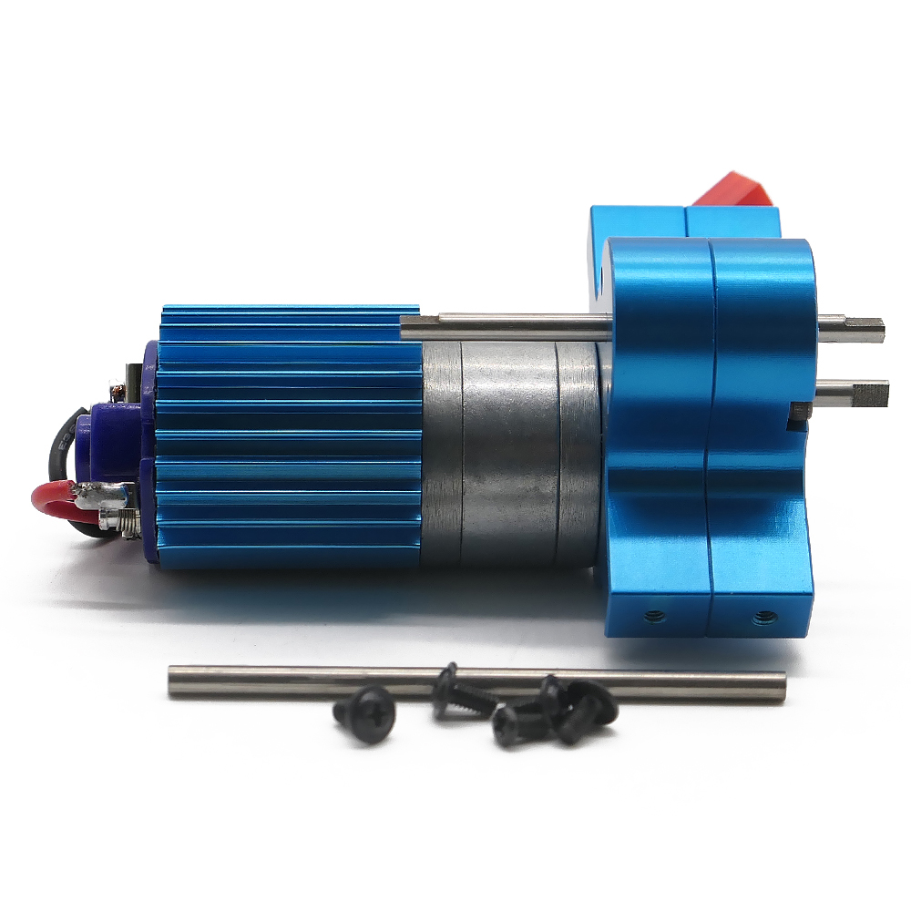 370 brushed motor carbon brush is exchangeable alloy heat sink gear box with steel gears for