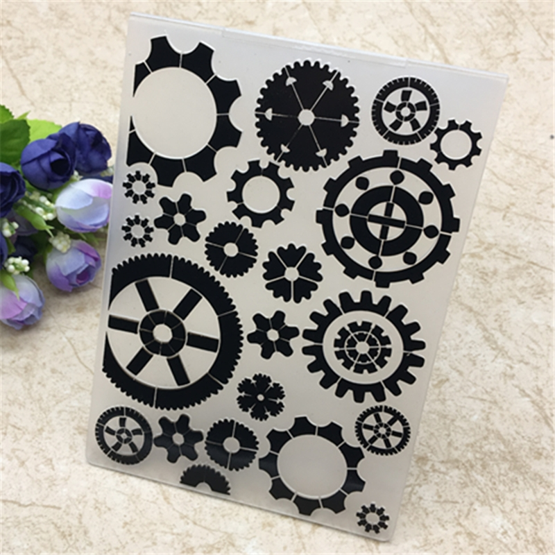 Gear Plastic Embossing Folders For DIY Scrapbooking Paper Craft/Card Making Decoration Supplies