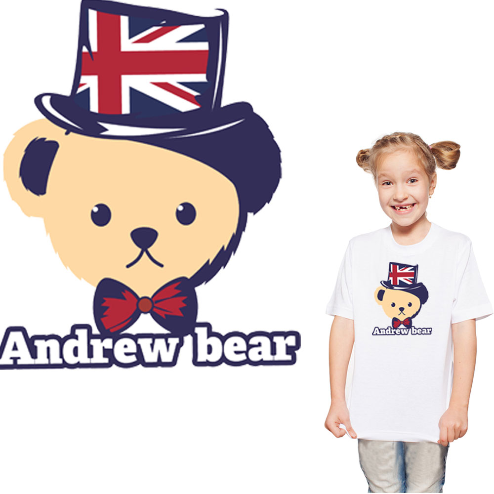 cartoon teddy bear patch for kid children clothes iron on transfers transfert thermocollants t shirt parches termoadhesivos ropa in Patches from Home Garden