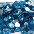 SS20 Aquamarine color 1440pcs Non Hotfix Rhinestones 4.6mm 20ss crystal flatback Nail Art Rhinestones