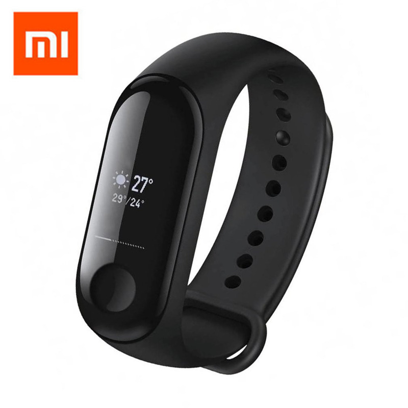 Original Xiao mi mi bande 3 Bracelet intelligent mi bande 3 bande intelligente smartband OLED écran Message météo affichage Fitness Tracker