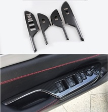 Car Door Interior Window Control Panel Lift Switch Button Cover Trim Door Armrest Panel Handle Frame for Honda New Civic 10th цены