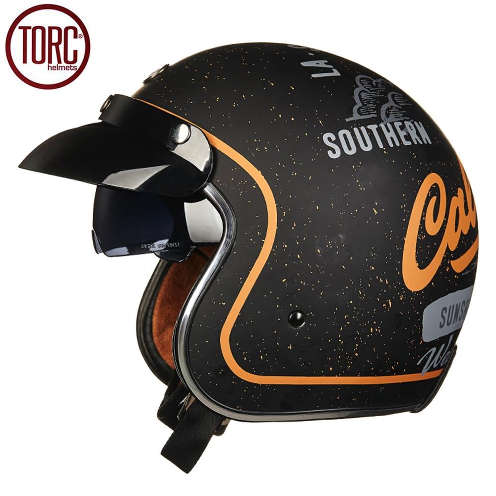 TORC Motorcycle Helmet Harley Open Face Vintage Cruiser Helmet T57H Moto Casque Casco motocicleta Capacete DOT Helmets