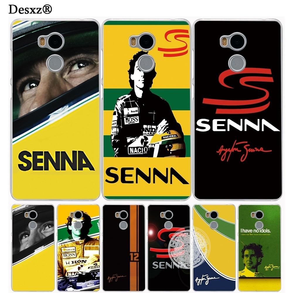 Desxz Ayrton Senna Cover phone  Case for Xiaomi redmi 4 1 1s 2 3 3s  pro redmi note 4 4X 4A 5A
