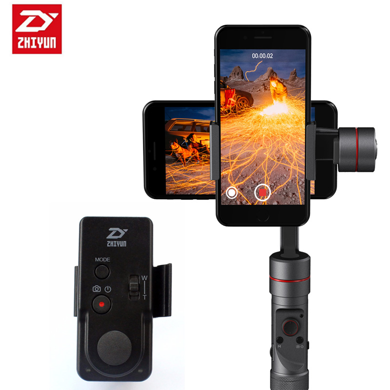 Zhiyun Handheld Gimbal Selfie Sticks Crane M / SMOOTH 3/SMOOTH-Q Stabilize with Wireless Remote Controller ZW-B02 For Smartphone yuneec q500 typhoon quadcopter handheld cgo steadygrip gimbal