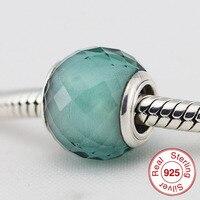 P5011dグリーンムラーノガラスビーズパンドラスターリングsilverjewelryチャームフィットpandoraブレスレット