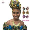 Африканские Женщины Платок Dashiki Женщины аксессуары для волос Базен Riche Африканский Геле Глава Галстук Обертывание Шарф Печати Анкара Батик WYS17